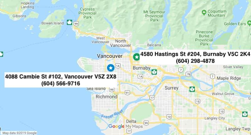 InSync Physiotherapy Locations Vancouver Burnaby